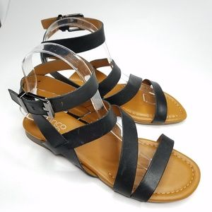 Franco Sarto Ankle Strappy Sandals 7.5